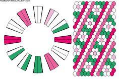K3150 - friendship-bracelets.net.                     24 strings.  5 colours