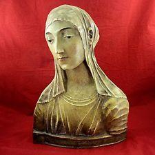 Antique Italian terra cotta bust Bust of Santa Caterina da Siena