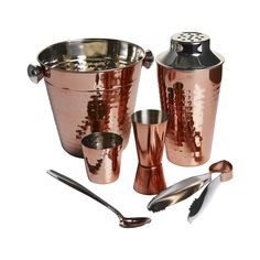 Wilko Barware Set Copper Effect