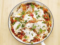 Skillet Lasagna Recipe : Food Network Kitchen : Food Network. Uses fresh tomatoes, and other garden veggies too.