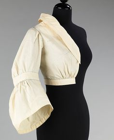 Muslin, Charles James, ca.1950, cotton, Dimensions: Length at CB: 17 1/4 in. (43.8 cm) The Metropolitan Museum of Art