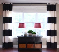 Curtains ideas -  Can't do the pattern but I have a big window to cover and I think this might work.