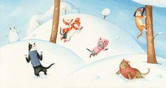 Cecil and the Joys of Winter by Bojana Dimitrovski, via Behance