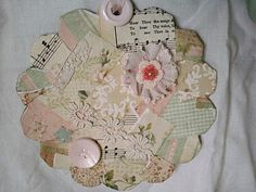 buttons go well with patchwork, ribbon and lace