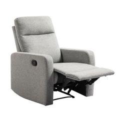 FAUTEUIL RELAX Fauteuil de relaxation manuel - Tissu gris -