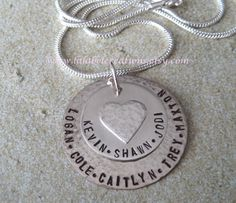 Hand Stamped Necklace  Personalized Jewelry  by LalabelCreations