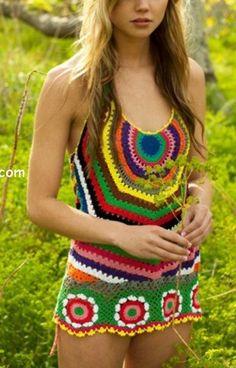 Reim looks like you:) Little hippie girl! Hippie Chick, Hippie Style, My Style, Girl Style, Crochet Bolero, Knit Crochet, Hippie Crochet, Crochet Tops, Moda Crochet
