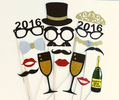 Hey, I found this really awesome Etsy listing at https://www.etsy.com/listing/130743599/new-years-photo-booth-props-16-piece-set
