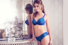 Lulu Tout Amelie Underwired Bra Set (DD-H) in Electric Blue #LuluTout #Frenchstyle #figleaves