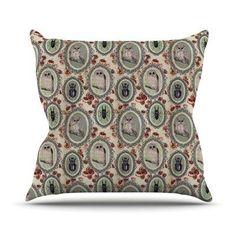 KESS InHouse Camafeu by DLKG Design Beetles Throw Pillow Size: