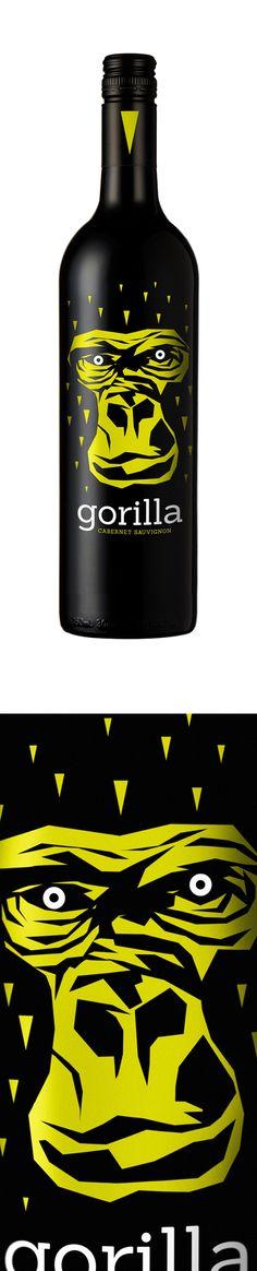 Gorilla Wine Packaging by http:\\thegrincket.com #taninotanino #vinosmaximum