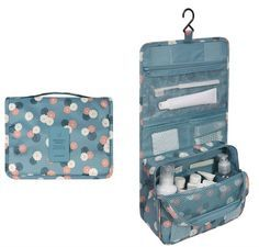Cocoly Portable Hanging Toiletry Bag Travel Organizer Cosmetic Bag for Women Makeup or Men Shaving Kit with Hanging Hook Travel Cosmetic Bags, Travel Toiletries, Travel Bags, Travel Toiletry Bag, Travel Necessities, Cheap Travel, Travel Essentials, Hanging Cosmetic Bag, Travel Items