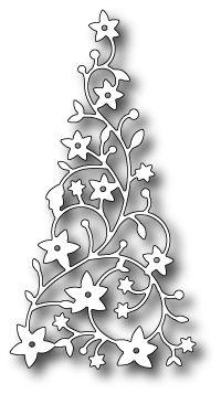 MEMORY BOX DIES-Flowering Christmas Tree (98195)       2.4 x 4.6 inches