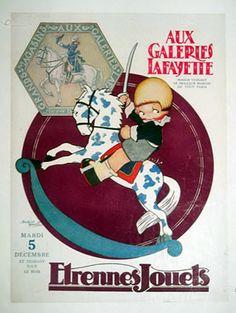 Beatrice MALLET, Imagière: Catalogue Etrennes & Jouets des GALERIES LAFAYETTE - 5 décembre 1922 - Illustration de Beatrice Mallet