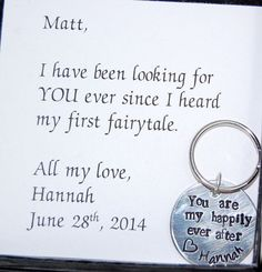 GROOM Gift from Bride, Happily ever after keychain, wedding day gift to groom, Personalized keychain, Custom Keychain for groom.