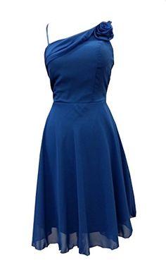 Cocktailkleid blau chiffon