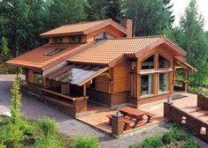 Casa en madera y piedra