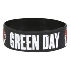 Green Day American Idiot Rubber Bracelet | Hot Topic (9,65 ARS) ❤ liked on Polyvore featuring jewelry, bracelets, accessories, rubber bracelets, wristbands, green bracelet, rubber bangles, american jewelry, green bangles and wristband bracelet