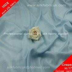 14mm silk crepe de chine fabric- sky blue http://www.silkfabricuk.com/14mm-silk-crepe-de-chine-fabric-sky-blue-p-394.html