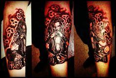 Jeremy's Rob Zombie Tattoo I did 8)