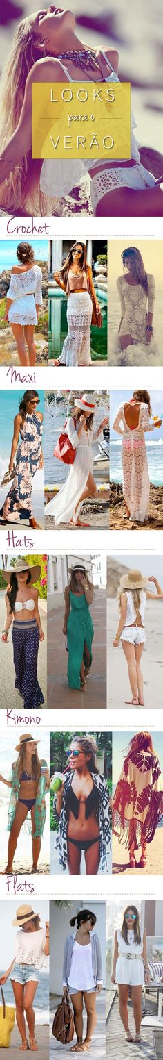 Look Praia: inspirações Girl Fashion, Fashion Outfits, Fashion Design, Hot Weather Outfits, Cool Outfits, Summer Outfits, Look Boho, Alternative Outfits, Summer Wardrobe