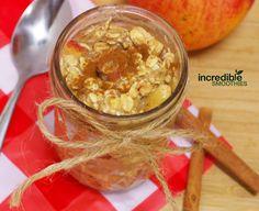 Apple Cinnamon Afternoon Oats Recipe Breakfast and Brunch with apples, unsweetened almond milk, applesauce, rolled oats, sea salt, cinnamon