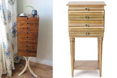 left: a jewelry case made by Angie Johnson as featured on Design*Sponge