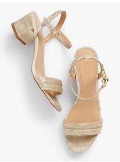 2a4140757f16 Mimi Luxe Exotic Block-Heel Sandals