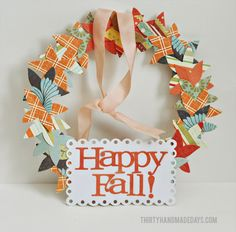 We're coming up on my favorite time of the year- FALL. Bring on the sweater weather, pumpkin flavored everything and apple cider. To get a jump start on fall, I created a simple little fall wreath using some die cuts from Lifestyle Crafts and an embroidery hoop. Word to the wise, READ