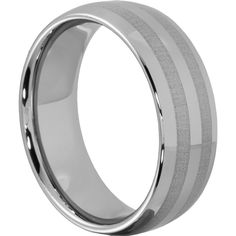 Ares Laser Engraved Metal Inlays Wedding Bands Dome 8mm