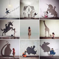 Kelly Tan LovePaperPlane, visual poetry - Cute and Kids Shadow Photography, Modern Photography, Abstract Photography, Artistic Photography, Creative Photography, Photography Ideas, Collage Artwork, Shadow Art, Instagram Artist