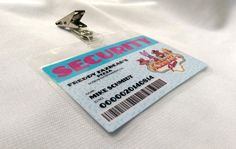 """Introducing my new laminated ID Badges. These designs are inspired by the hit indie video game """"Five Nights at Freddy's"""" which is set around 1993.  These designs are meant ... #snowbunnystudios #handmade #cosplay #costuming #cute #collectable #cutecollectablecosplay #shopsteam #fnaf #costume #horror #accessory #freddy's #foxy"""
