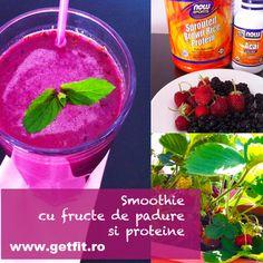Smoothie cu fructe de padure si proteine