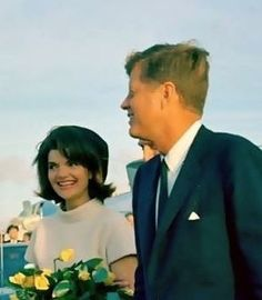 President and Mrs. Kennedy arrive in San Antonio, Texas on November 21, 1963. Twenty four hours later she would be a widow at the age of 34.