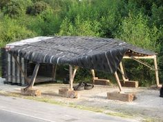 tire roofed shelter from millegomme.com