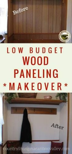 Here's how to update old wood panel walls. Save money by painting wood paneling with grooves. You can paint wood paneling without sanding. Wood Paneling Decor, Wood Paneling Makeover, Wood Panneling, Painting Wood Paneling, Painted Panelling, Paneling Ideas, Farmhouse Renovation, Home Renovation, Modern