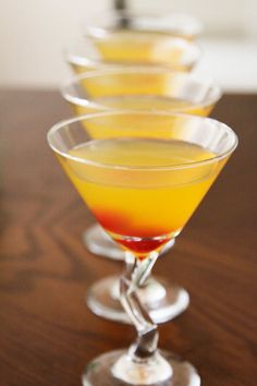 We <3 this outtake of @Onyx Moonshine martinis from our April/May issue!