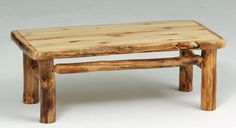 Natural Wood Furniture - Aspen Coffee Table - Item #CT03088 - Bottom Shelf Available - Solid Wood