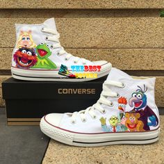 115b1aa7b1 The Muppets - Converse All Star Hand-Painted Shoes Online, High Top Converse  Hand