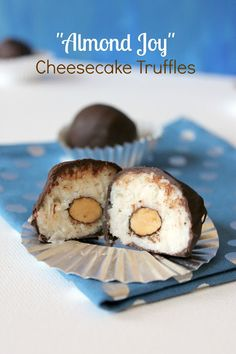 Almond Joy Cheesecake Truffles . . . Hmmmm, maybe this looks good because it's late . . . try?