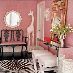 Bamboo Mirror, Contemporary, entrance/foyer, Jonathan Adler