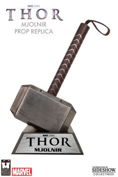Marvel Thor Hammer Prop Replica by Museum Replicas   Sideshow Collectibles