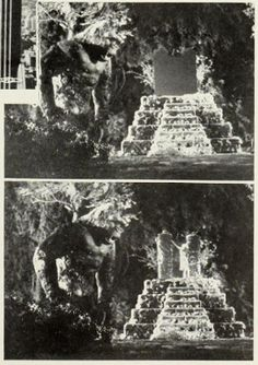 Before and after test  If you pay attention, Kong actually changes size and facial features several times throughout the movie, depending upon which model they were shooting.