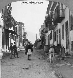 Street scene, Patras, Greece, Keystone View Co. Library of Congress Prints and Photographs Division Washington, D. Patras, Photographs Of People, Vintage Photographs, Greece Pictures, Old Greek, Greek History, Family History, Still Picture, Athens Greece