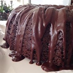 "Too Much Chocolate Cake | ""Very, very moist, rich cake. Followed recipe exactly. This is going to become a standard at our house. Perfect with a dusting of powdered sugar and a cold glass of milk."""