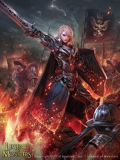 Artist: Kyoungmin Park aka Kmin-kkomjirak - Title: Girls Knight 2 - Card: Unknown