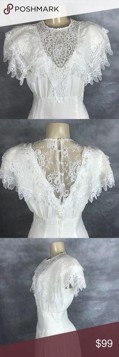 Jessica McClintock boho Edwardian wedding dress Great vintage used dress Jessica McClintock Dresses Wedding
