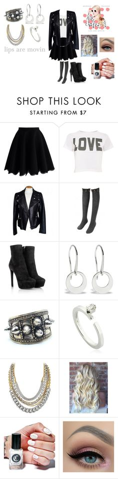 """""""Lips are Movin by Meghan Trainor"""" by ocean-goddess ❤ liked on Polyvore featuring Chicwish, Pilot, Alexander McQueen, Prada, Child Of Wild, Dauphin, Dyrberg/Kern and Cirque Colors"""