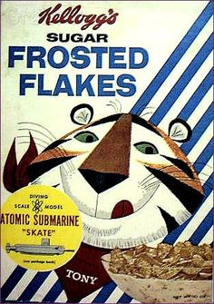 #Frosted #flakes #kellogs #cereal ATOMIC SUBMARINE