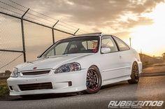 White Honda Civic Ej8